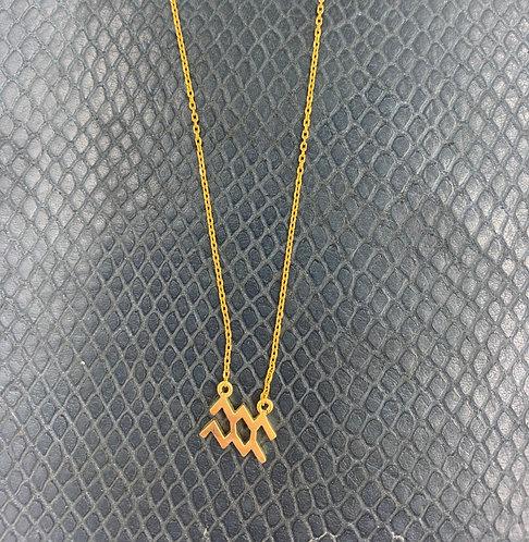 Aquarius Yellow Gold Vermeil Pendant