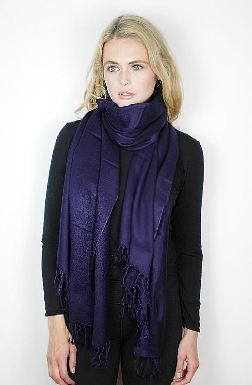 Azul Marino Cashmere & Silk Tie-Dye Wrap