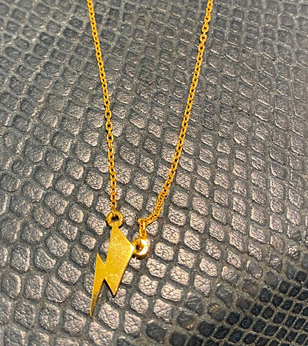 Bowie Flash Symbol Yellow Gold Vermeil Pendant