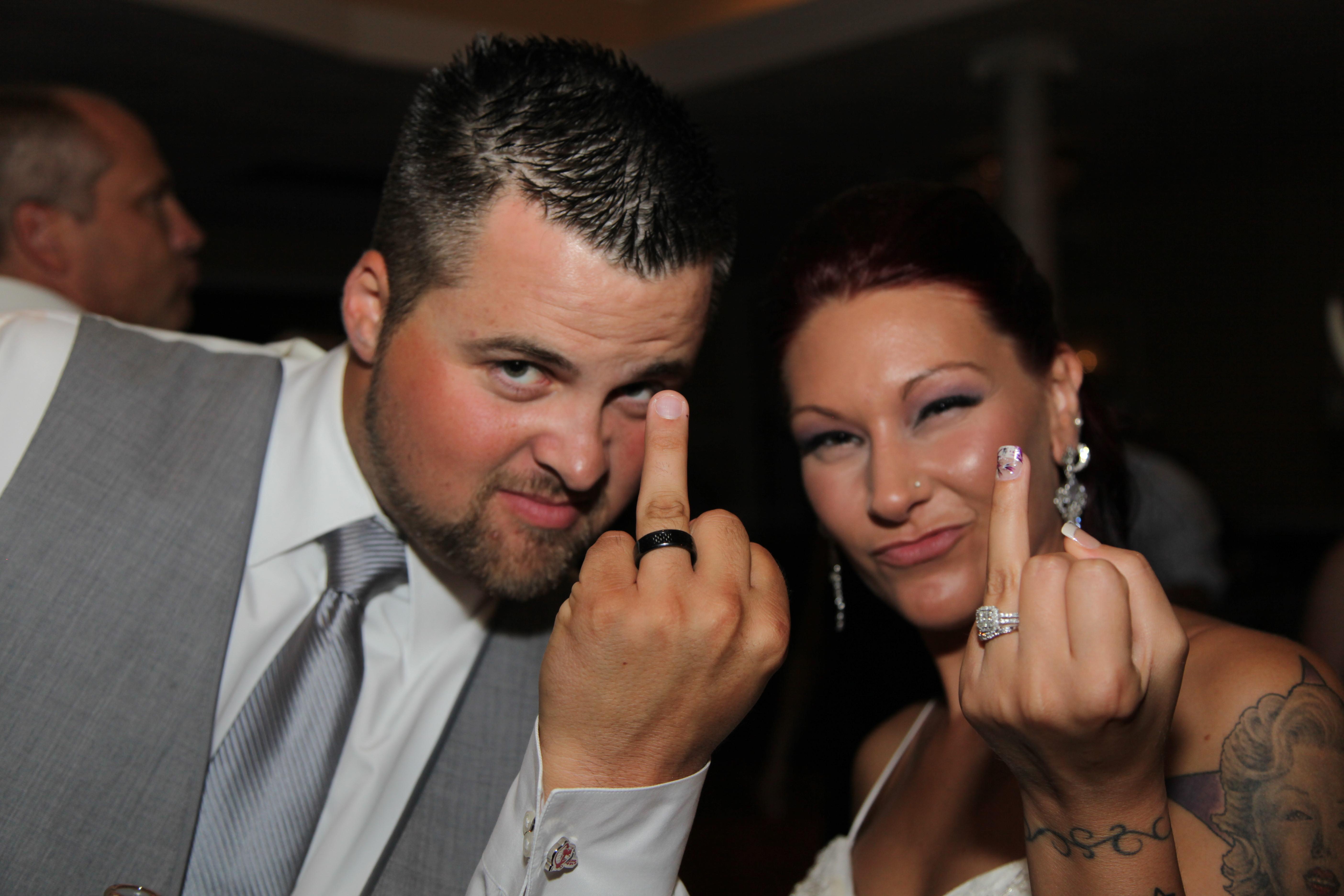 The Wedding Flip Off