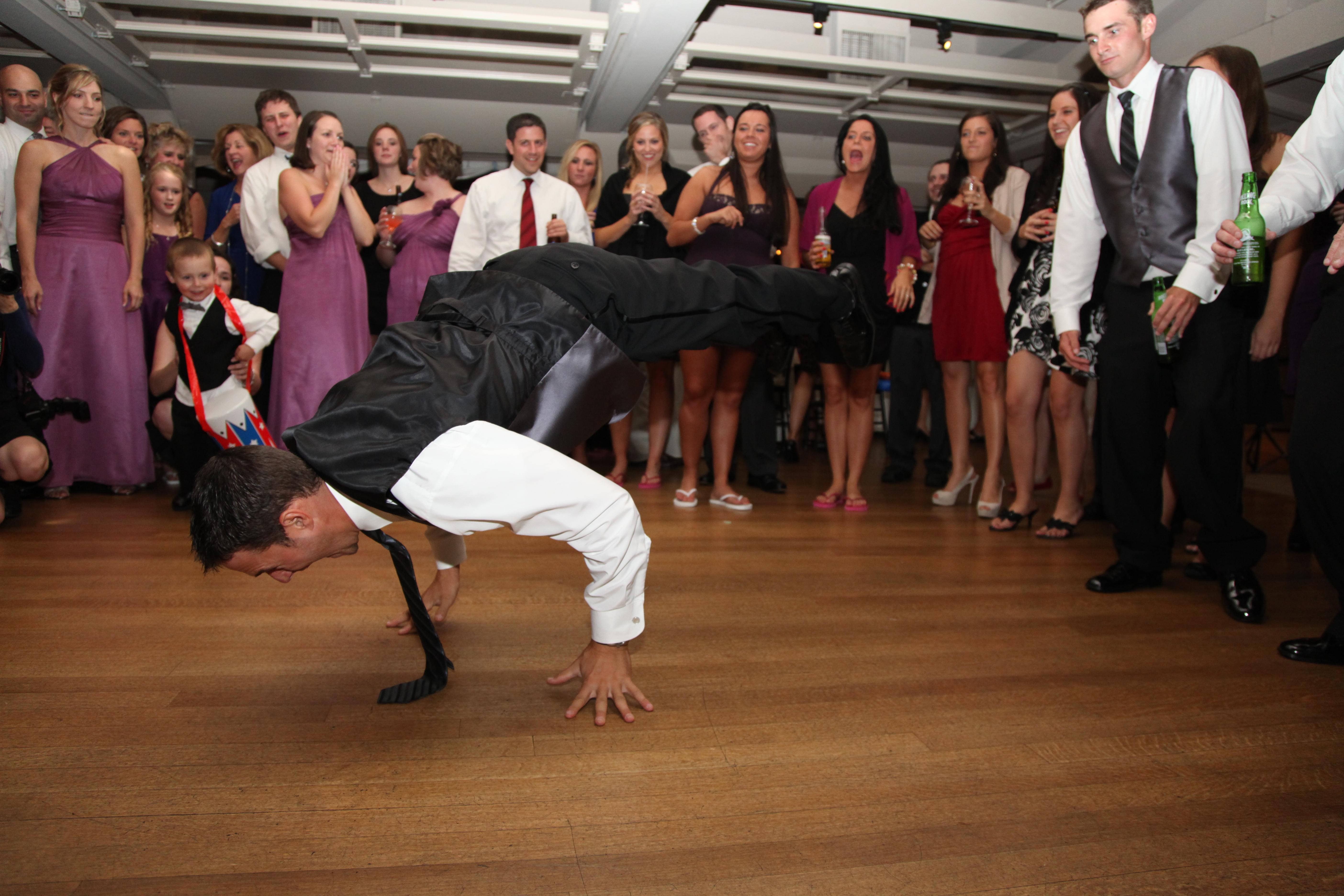 Groomsman Breakdancing