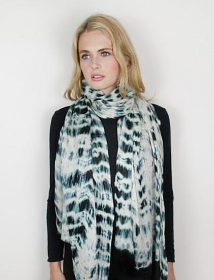 Platadeo Cashmere & Silk Tie-Dye Wrap