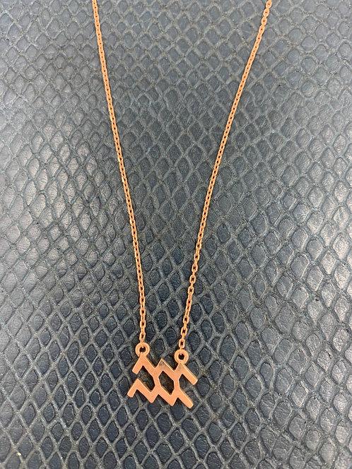 Aquarius Rose Gold Vermeil Pendant