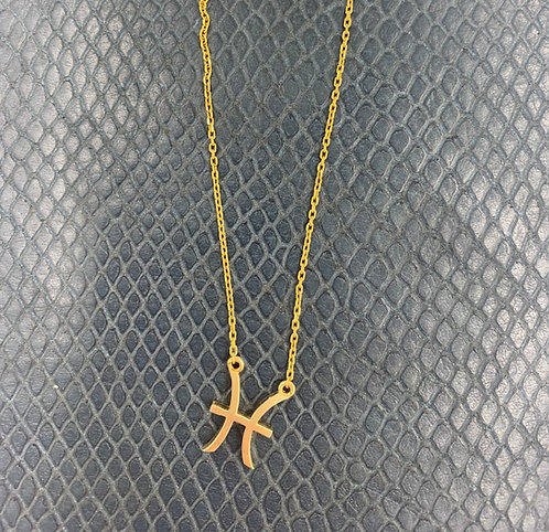 Pisces Yellow Gold Vermeil Pendant