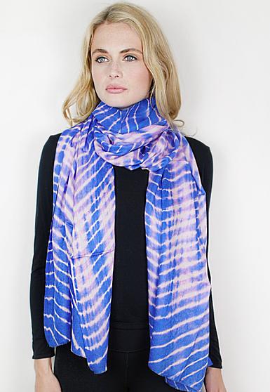 Azul Cashmere & Silk Tie-Dye Wrap