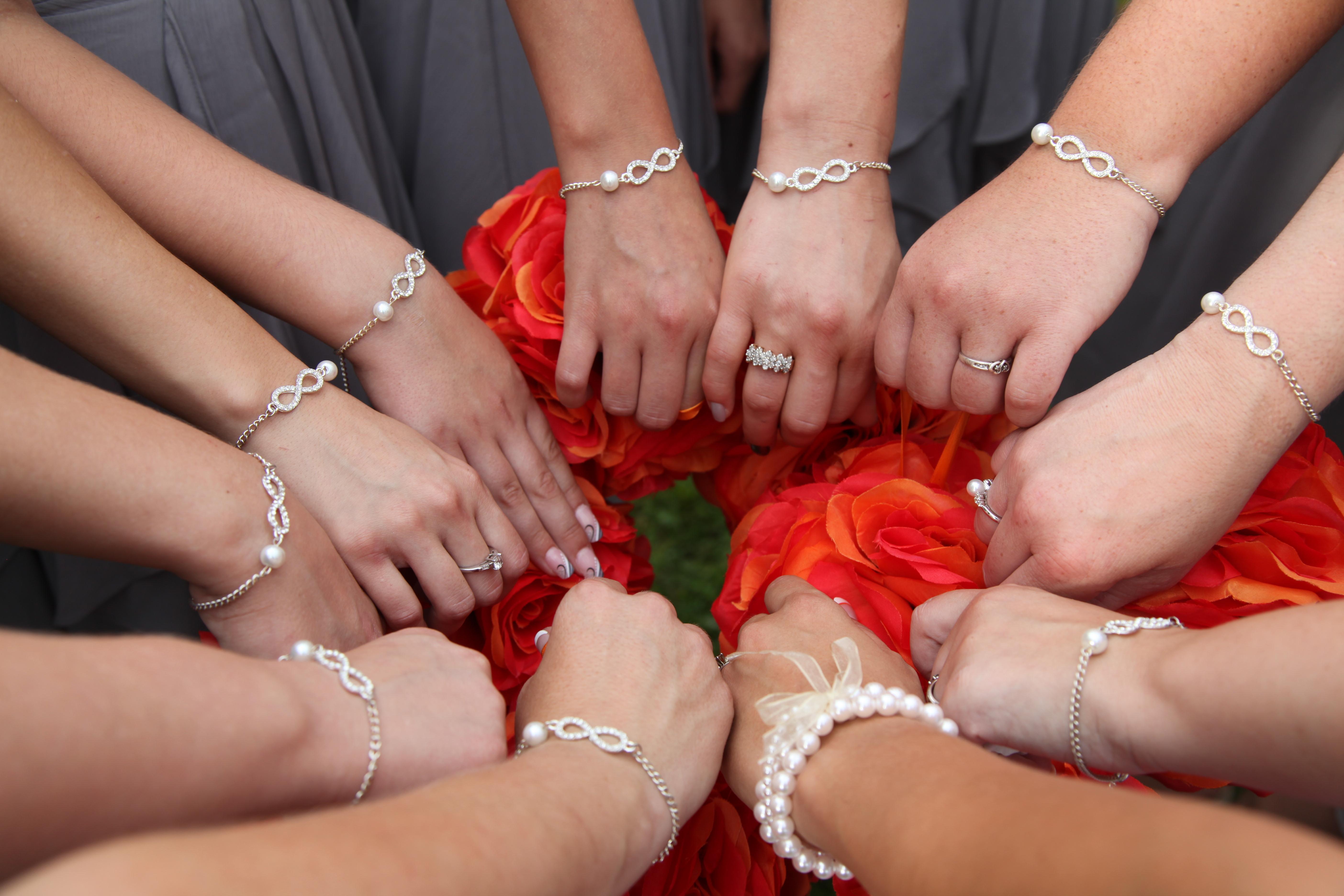 Wedding Infinity Bracelets