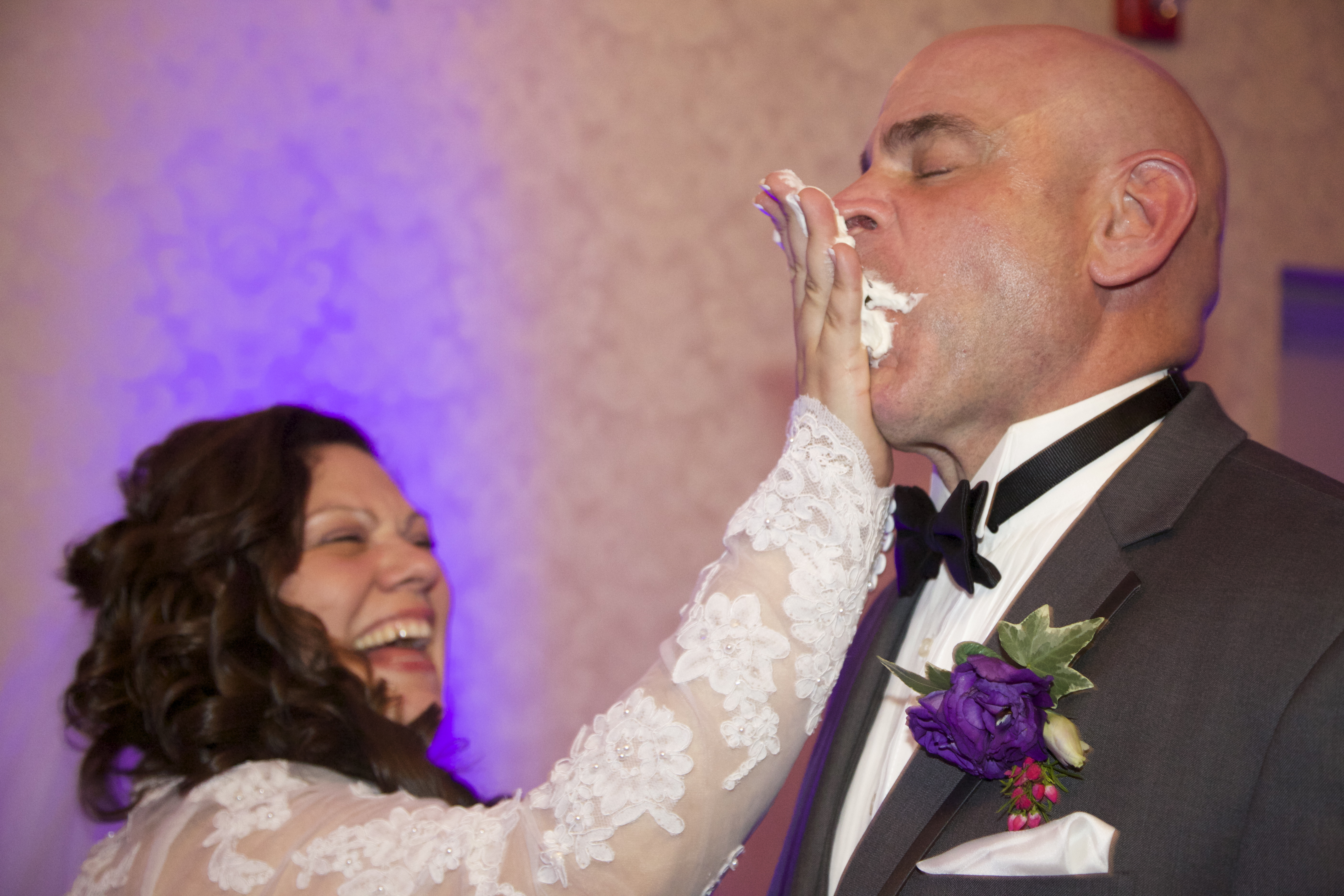 Some cake in the face