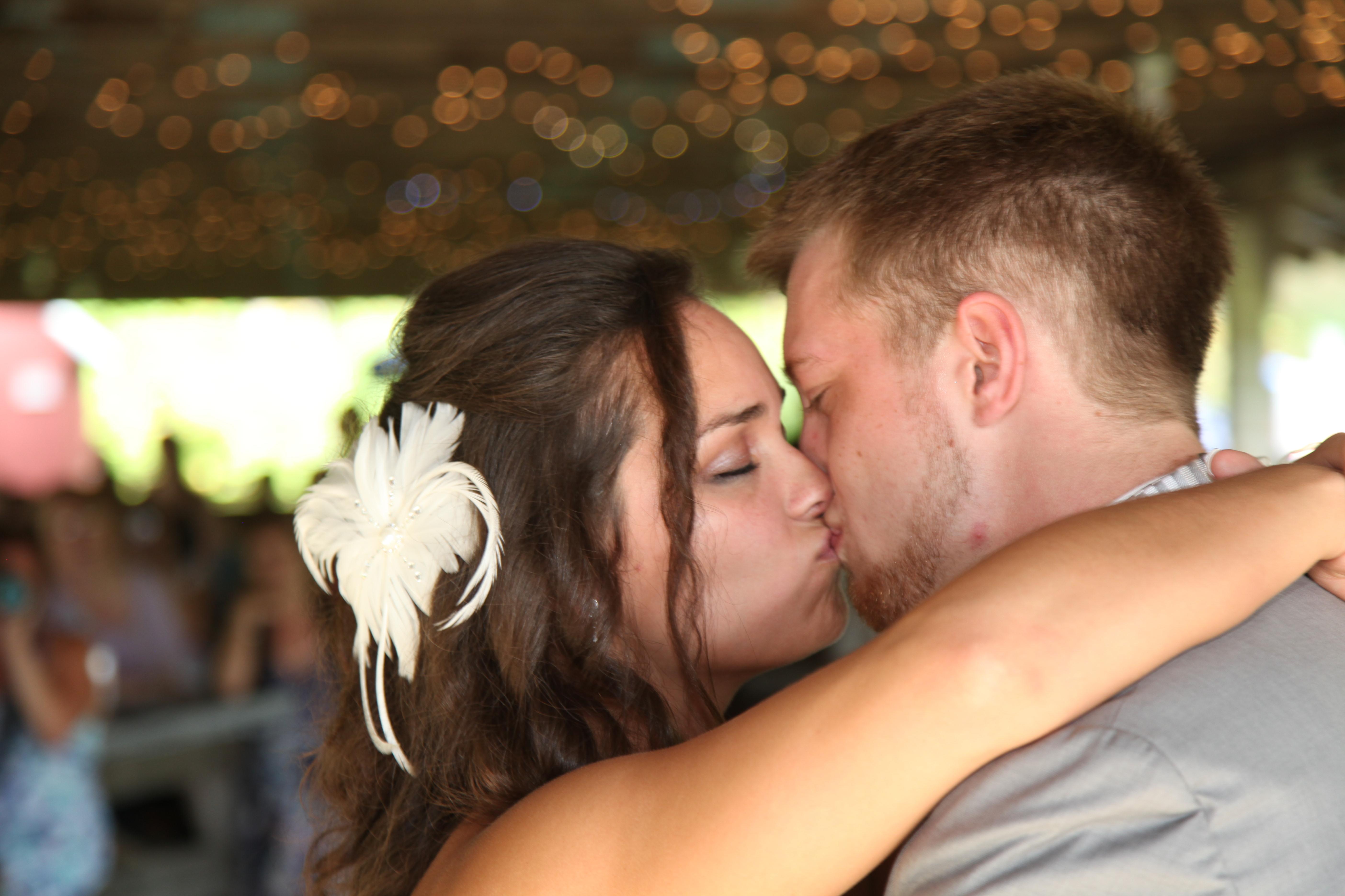 First Dance Wedding Kiss