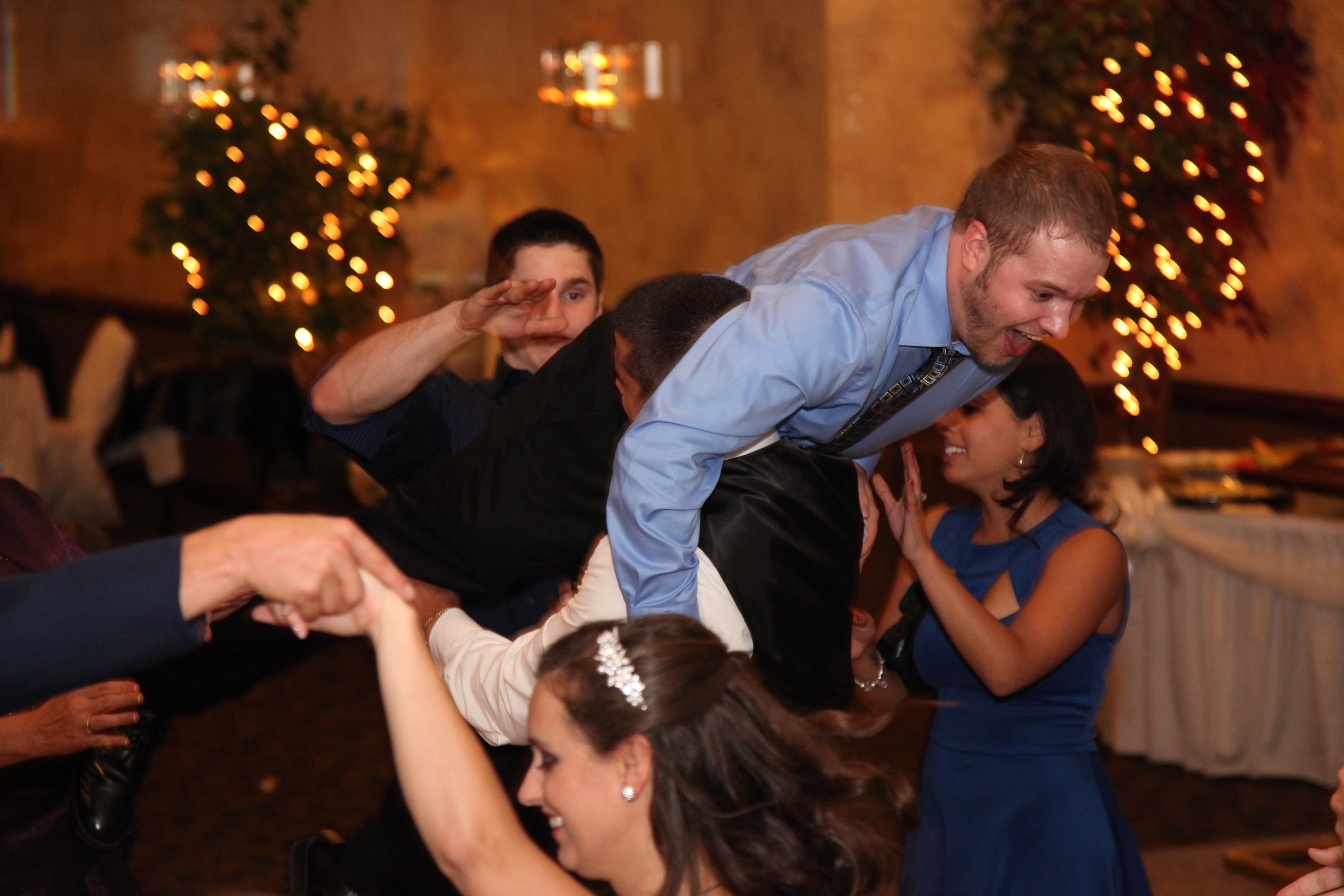 Groom gets strong