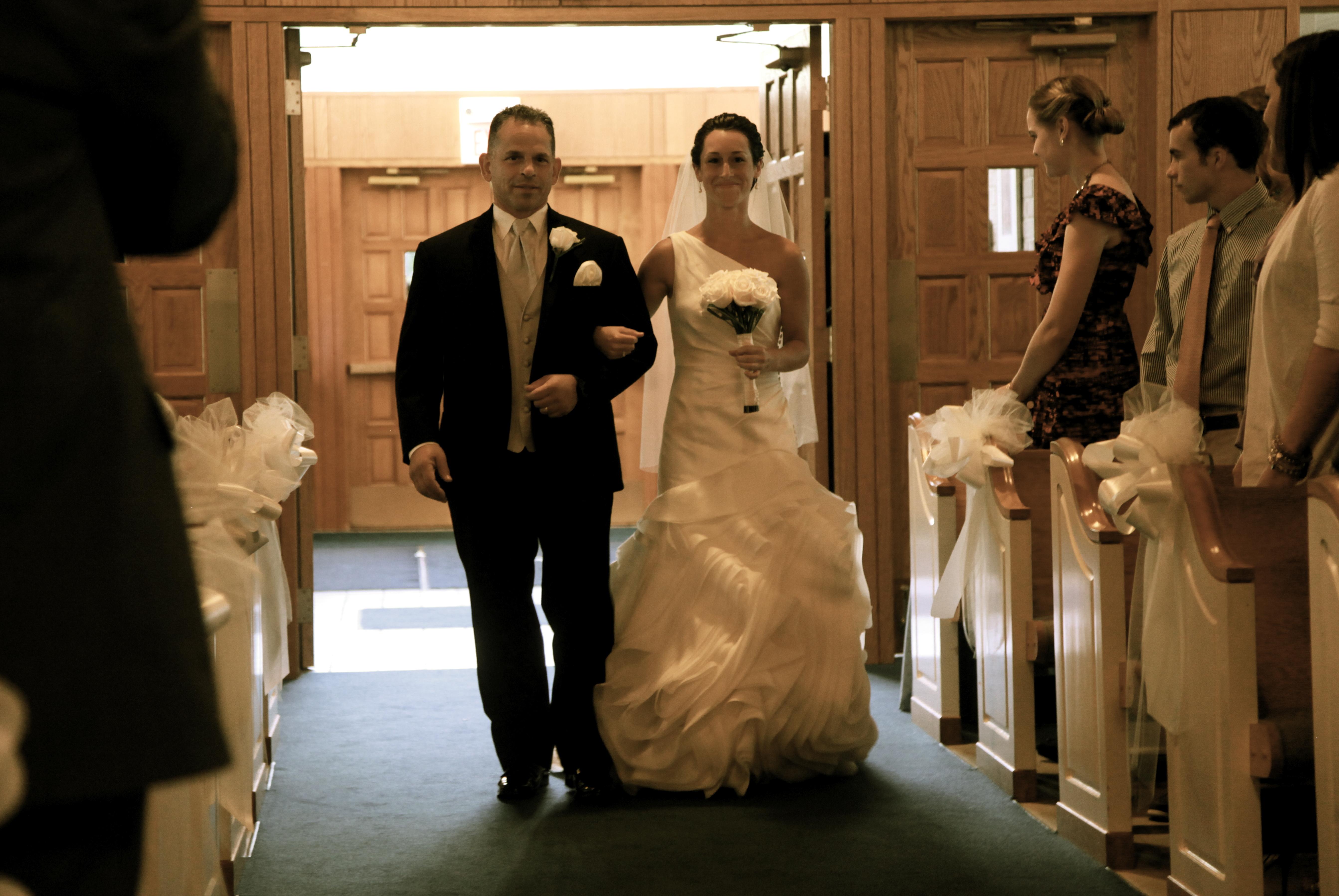 Father walks the Bride
