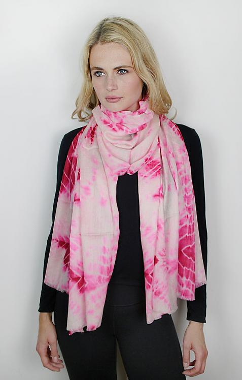 Rosa Palido Cashmere & Silk Tie-Dye Wrap