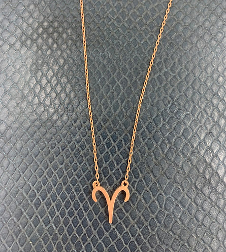 Aries Rose Gold Vermeil Pendant