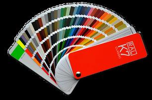 Каталог RAL, для выбора цвета эмали на покраску мдф