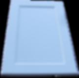 Крашеный филенчатый фасад с прямой филенкой