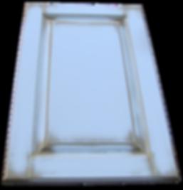 Крашеный филенчатый фасад с объемной филенкой