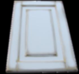 Крашеный филенчатый фасад с двухрядной филенкой