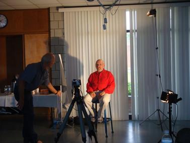 Thorney Lieberman demostrating lighting during his workshop in 2008.