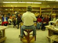 Randy Johnston teaching ceramics in April of 2012.
