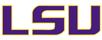 Louisiana State University logo representing the university partnerships of the audiologists at High Level Speech & Hearing Center in Harahan, LA