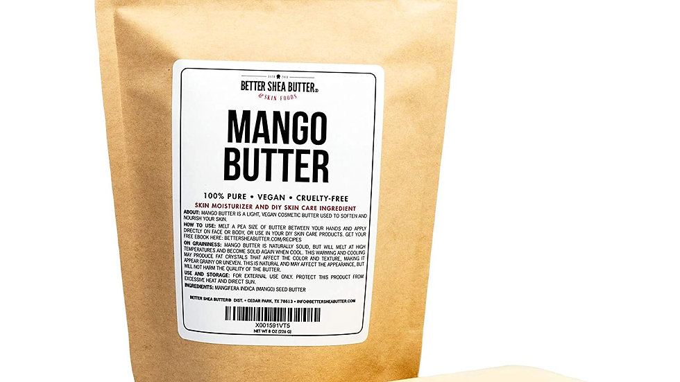100% Pure Mango Butter - Can Substitute Shea Butter in Soap and Lotion Recipes -