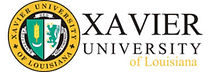 Xavier University of Louisiana logo representing the university partnerships of tinnitus treatment center High Level Speech & Hearing Center in New Orleans, LA