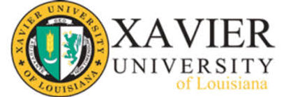 Xavier University of Louisiana logo representing the university partnerships of tinnitus treatment center High Level Speech & Hearing Center in New Orleans, LA