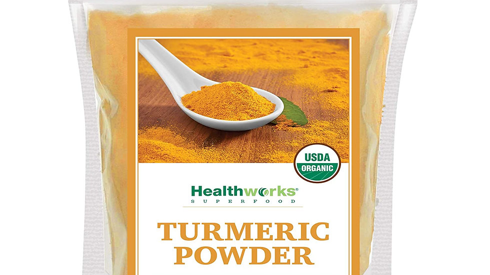 Healthworks Turmeric Powder (16 Ounces / 1 Pound) | Ground Raw Organic | Curcumi
