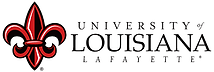 University of Louisiana at Lafayette logo representing the university partnerships of the speech therapists at High Level Speech & Hearing Center in New Orleans, LA