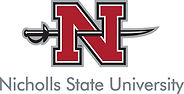 Nicholls State University logo representing the university partnerships of the speech therapists at High Level Speech & Hearing Center in New Orleans, LA