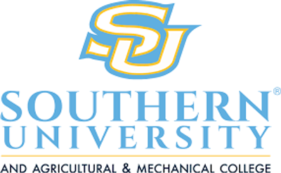 Southern University and Agricultural & Mechanical College logo representing the university partnerships of the tinnitus treatment center High Level Speech & Hearing Center in Harahan, LA