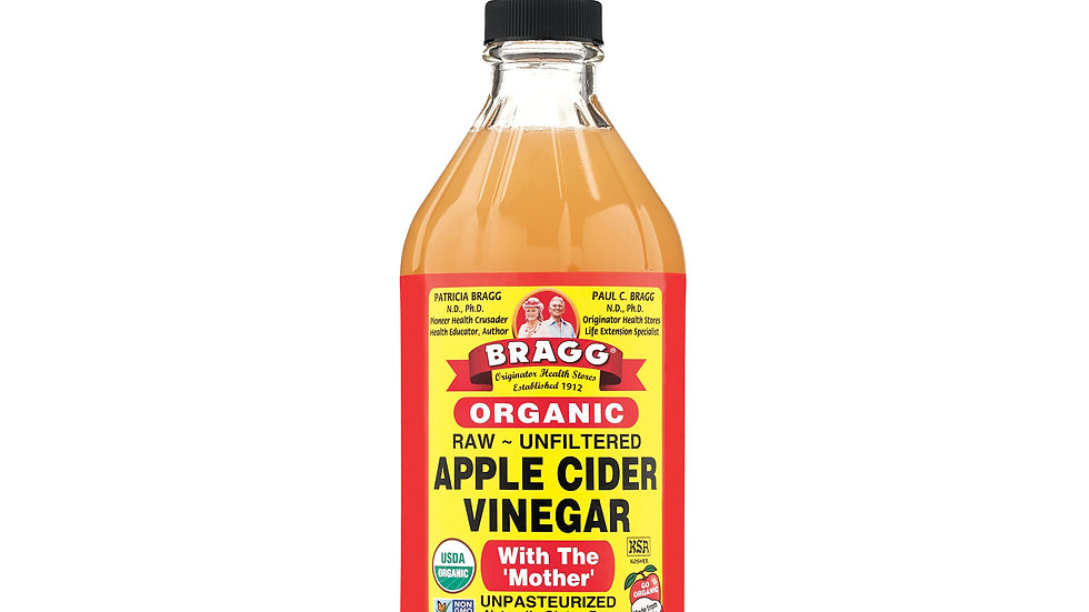 Bragg Organic Raw Unfiltered Apple Cider Vinegar with The Mother, 16 ounce