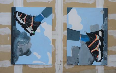 DÓRA Ádám_Rotated step_2021_oil & acrylic on canvas_170x120 cm (each panel).JPG