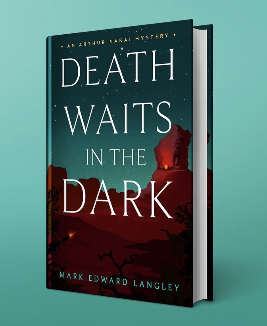 Final cover design for Death Waits in the Dark