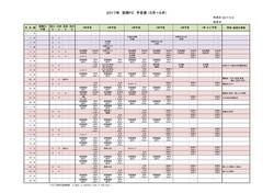 2017年 05~06月予定表