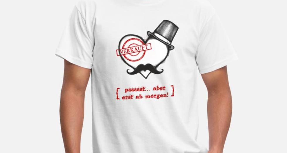 Design auf dem Shirt- Junggesellenabschied