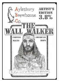 Aylesbury Brewhouse Co. The Wall Walker served at Ye Olde Fighting Cocks
