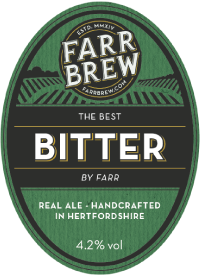 Farr Brew Bitter proudly Served at Ye Olde Fighting Cocks