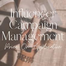 Influencer Campaign Managament