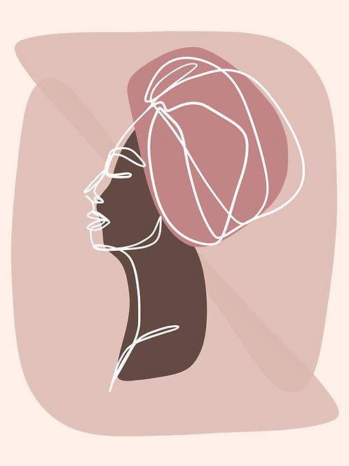 Pink Profile - 8x10 Print