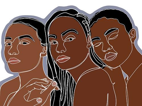 Sisters - 8x10 Print
