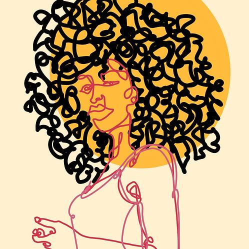 Sun Girl - 8x8 Print