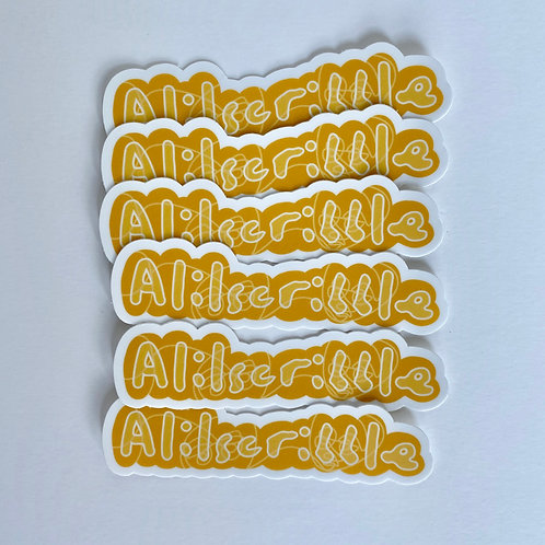 Alilscribble Die Cut Sticker