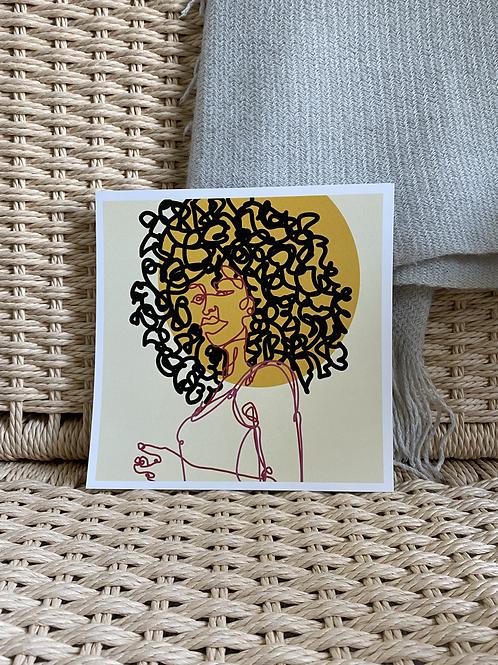 Doodle Dud - Sun Girl - 8x8 Print