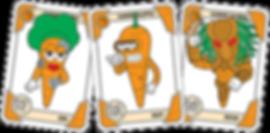 JUPITER Blue Carrot Cards