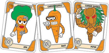 JUPITER Blue Carrot Cards