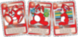 QUEST Red Bunny Cards