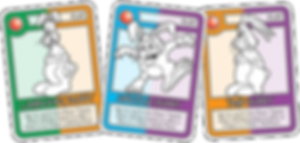 QUEST White Bunny Cards
