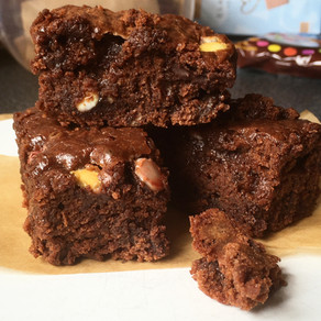 Vegan Smartie Brownies!