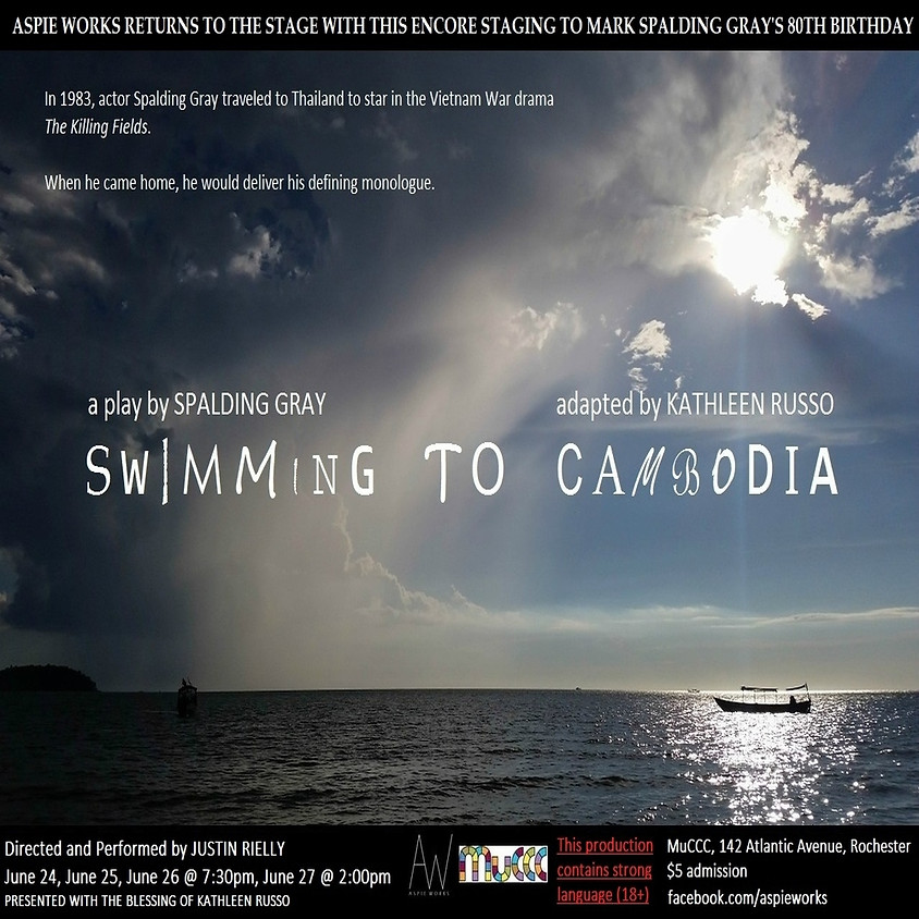Aspie Works presents SWIMMING TO CAMBODIA