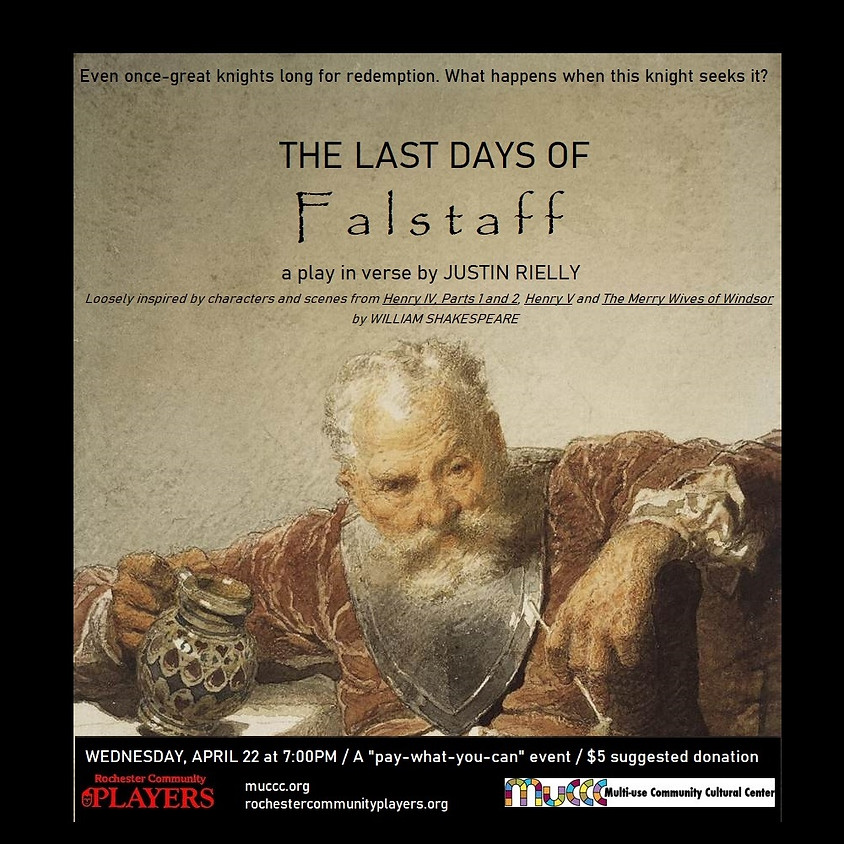 RCP presents THE LAST DAYS OF FALSTAFF - A Benefit Reading